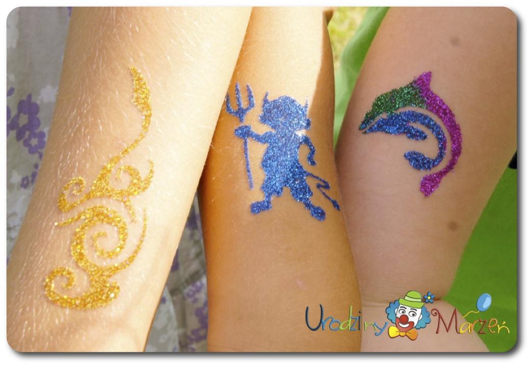 Tatuaże Brokatowe Glitter Tattoos Imprezy Dla Dzieci